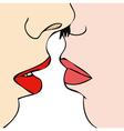 Desire between two women vector image