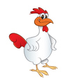 chicken smiling vector image
