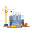 construction cinema with of crane mixer vector image