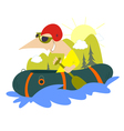 Extreme boating vector image