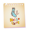 hello there notepad paper message vector image