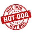 hot dog stamp vector image