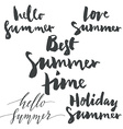 Set labels summer vector image