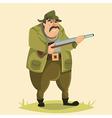 hunter funny cartoon character vector image
