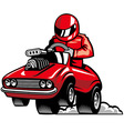 muscle car racing vector image vector image