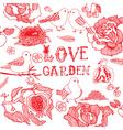 love garden vector image