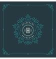 Luxury Logo template flourishes calligraphic vector image