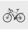 Bike a transparent background Bicycle silhouette vector image