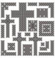 Celtic borders vector image