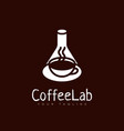 coffee lab logo vector image