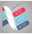 Colored bended lines with numbers vector image
