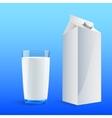 four glasses of milk vector image