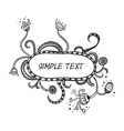 Hand Drawn Doodle Border Frame vector image