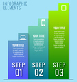 Infographic elements Three steps to success vector image