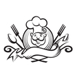 monochrome chef design vector image