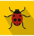 Red ladybird icon flat style vector image