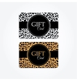 Set of gift or vip cards with trendy leopard vector image