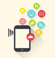 smartphone device with applications app icons vector image