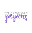 I ve never seen you looking gorgeous calligraphic vector image