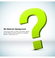 3D question mark Background vector image