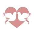 lovebirds silhouette in heart cartoon icon image vector image