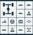 auto icons set collection of fixing crossover vector image