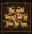 the apple doesnt fall far from the tree vector image