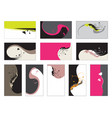 business card - collection vector image vector image