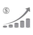 Stacked coin graph vector image