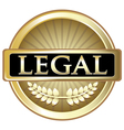 Legal Gold Label vector image