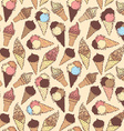 boundless ice-cream pattern vector image