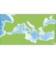 Mediterranean Sea map vector image vector image