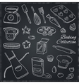 Set of Baking tools Hand drawn collection vector image