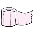 freehand drawn cartoon toilet paper vector image