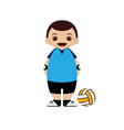 Cartoon volleyball player vector image