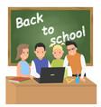 back to school concept schoolchildren at the vector image