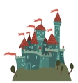 Cartoon Castle on a Hill flat icon vector image
