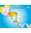 central america map vector image