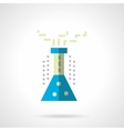 Chemistry flask flat color icon vector image