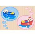 Children bathe in the tub vector image