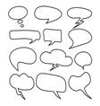 Cloud speech bubble set2 vector image