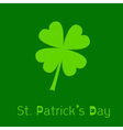 Clover leaf 3D effect st patricks day vector image