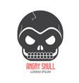 crazy skeleton skull cartoon icon vector image
