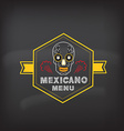 Menu mexican design vector image