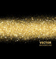 sparkling glitter border on black festive vector image