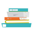 stack of papers and folders vector image
