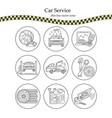 thin line pictogram symbols of car service vector image