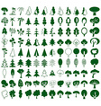 Trees icons on white vector image