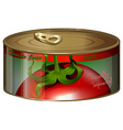 Tomato juice in aluminum can vector image