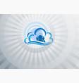 blue light background computer cloud vector image